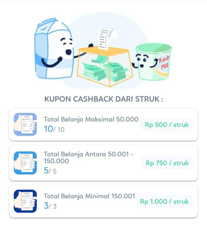 aplikasi pomona id yang memberikan cashback bagi tiap struk belanja