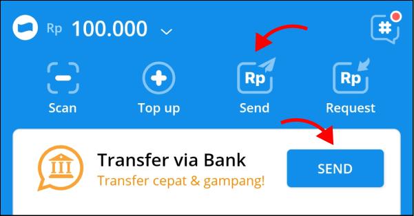 Cara transfer saldo DANA ke iSaku