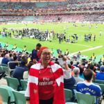 Gadis ni sanggup terbang 6,700km ke Azerbaijan kerana Arsenal