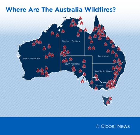 Peta Kebakaran Australia