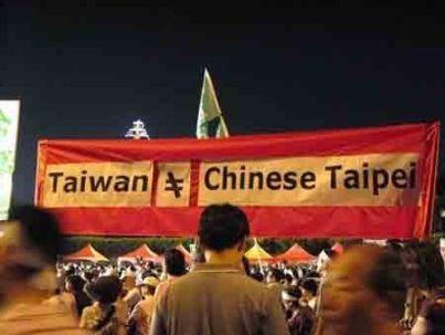 Taiwan Bukan Chinese Taipei