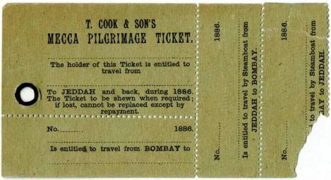 Tiket Haji Dari Bombay Mekah 1886