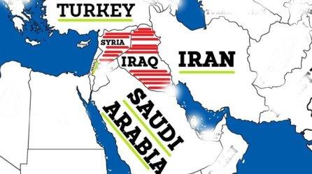 Map Iran Saudi Turki