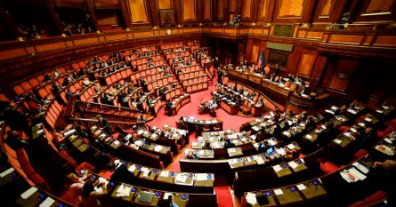 Italy Politics Parliament Vote Senate