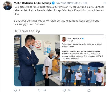 Senator Sarawak Gadis Rogol Polis