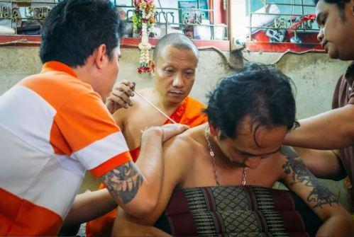 tatu thai pelancong sami buddha