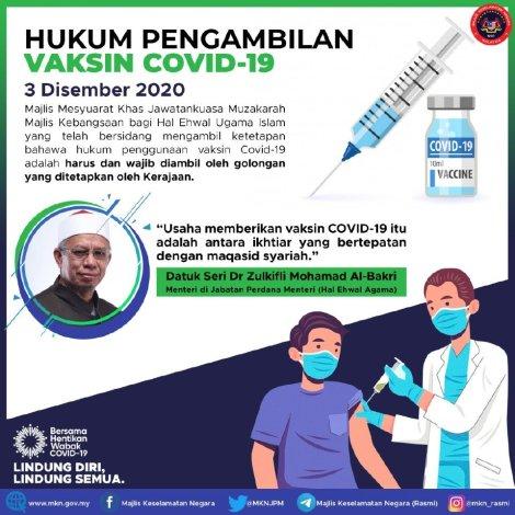 vaksin hukum harus wajib mufti