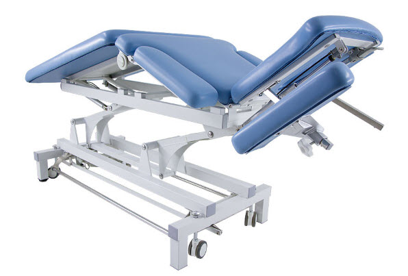 3 Sections Electric Treatment Table with Headrest & Folding Armrests 7