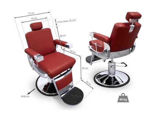 Barber Chair Kentucky Maroon 2