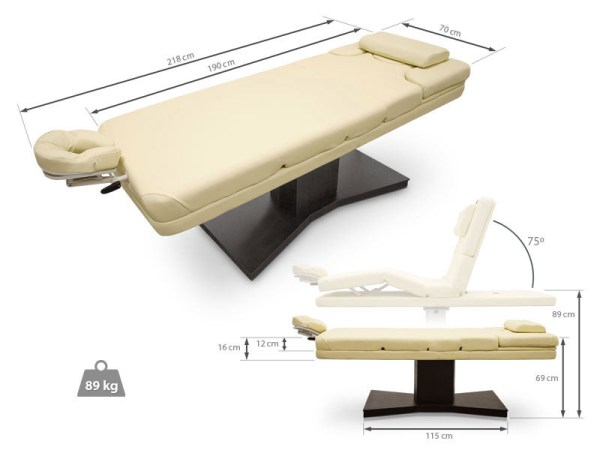 Electric Massage Table for SPA Single Column Lift 2