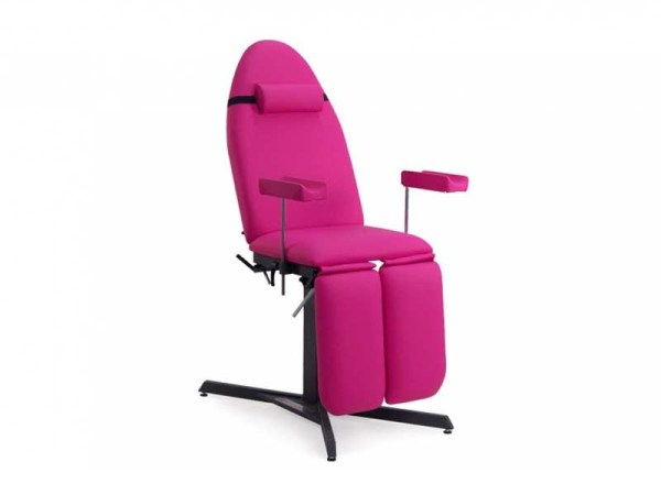 Fixed Pedicure or Tattoo Chair 3-Section with Headrest and Armrests 1