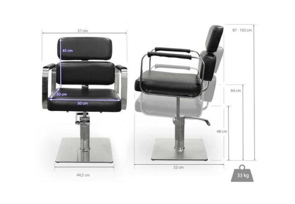 Black Ferrara Hairdresser Chair 2