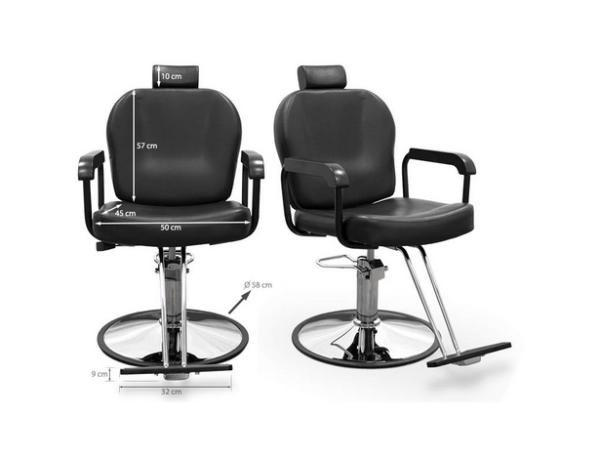 Black Sorrento Hairdresser Chair 3