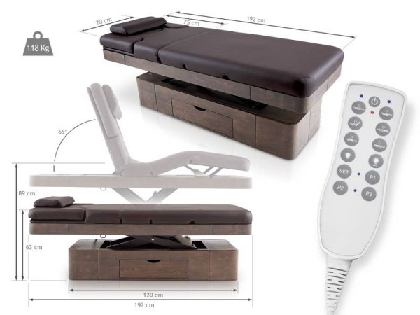SPA Massage Table with LED Chromotherapy and Drawer 2