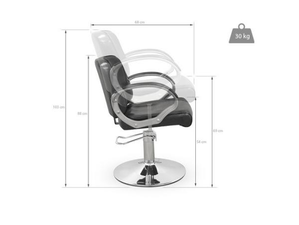 Black Potenza Styling Chair 3
