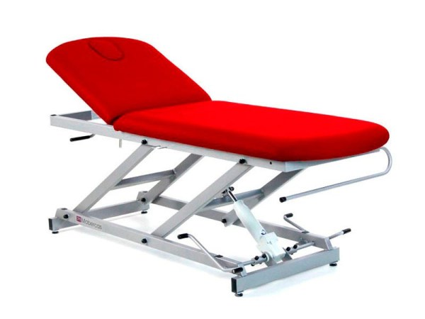 Two-Section Hydraulic Massage Table with Paper Roll Holder and Facial Plug 1