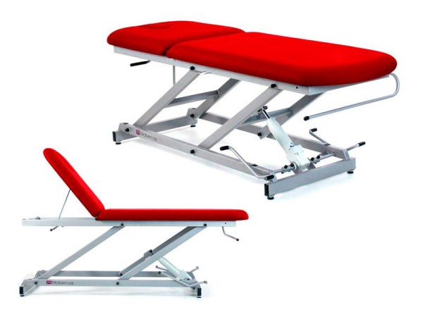 Two-Section Hydraulic Massage Table with Paper Roll Holder and Facial Plug 2