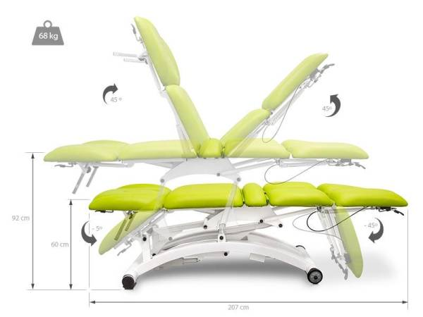 Electric Multifunctional Massage Table 5 Sections With 2 Engines 3