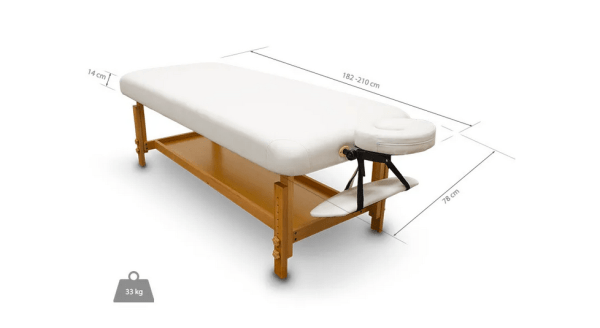 Fixed Wooden Massage Table for SPA 2