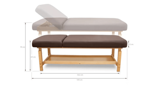 SPA Wooden Massage Table With Backrest 3
