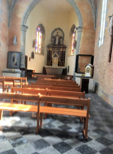 Intérieur de la chapelle de l'Epinoy