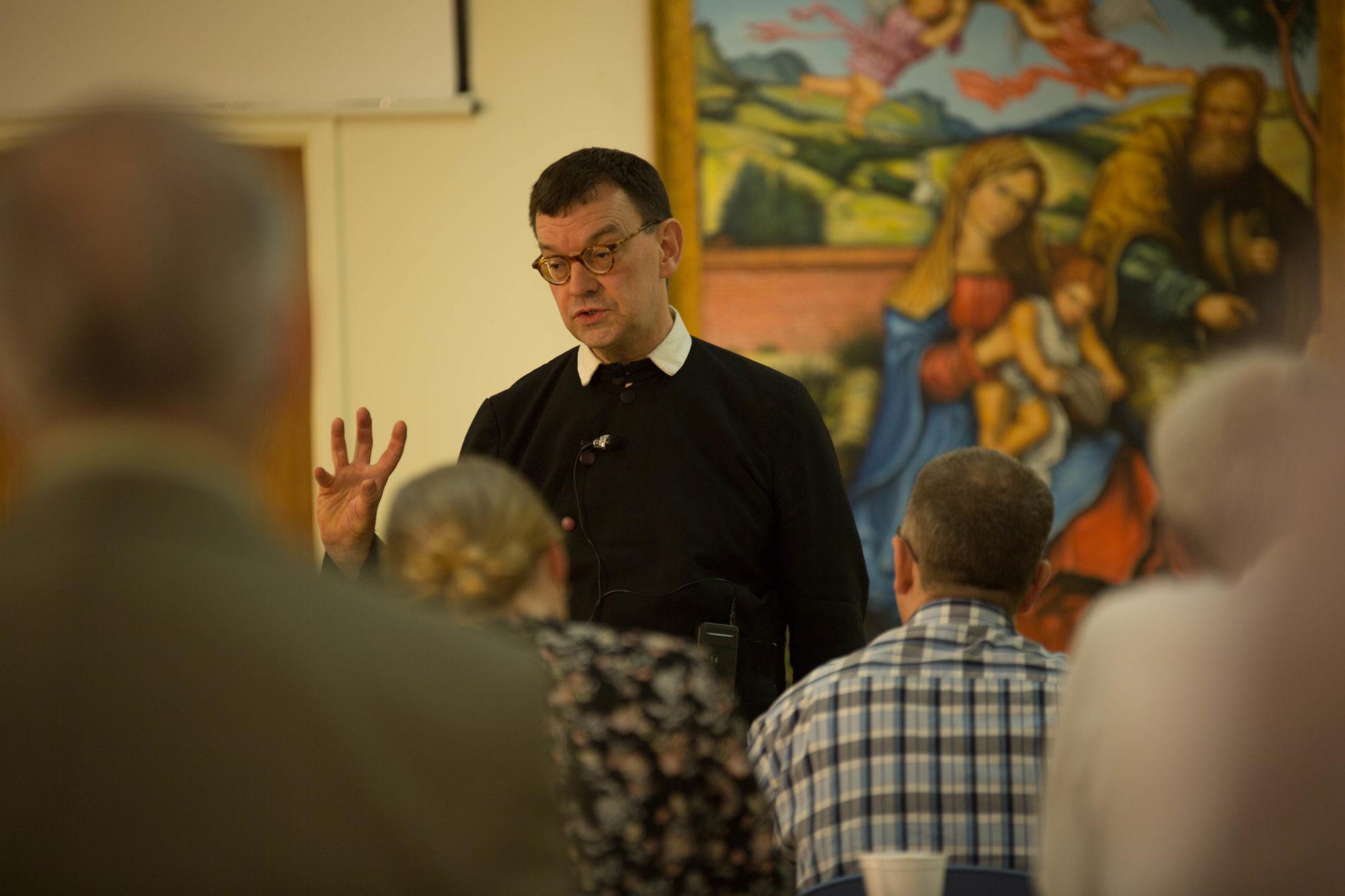Fr Derek teaches at Summer School