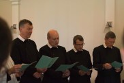 The Fathers sing the Te Deum