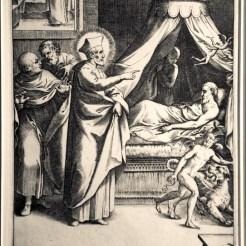 St. Philip visits a sick person.