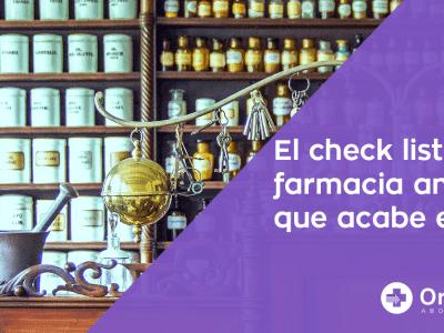 Checklist de recomendaciones para farmacéuticos