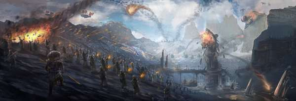 crivon-ameaca-dos-guerreiros-do-caos-Seige_of_Karakoram_by_unfor54k3n-600x206 Guildas de Crivon: Os Guerreiros do Caos