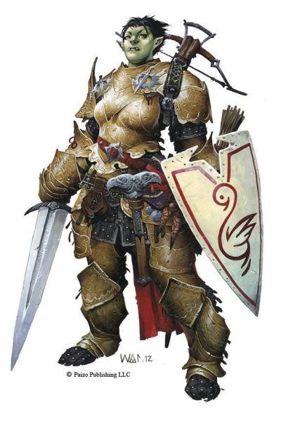 rheia-meio-orc-meia-guerreira-400x600 Povos de Crivon: Meio Orcs