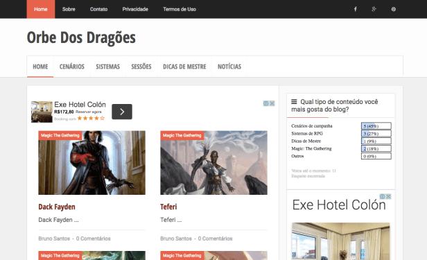 Orbe-antigo-blogger Saldo de 2016: Novo blog, mais conteúdo e muito RPG!
