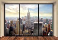 "Mural de pared NEW YORK CITY SKYLINE ""PENTHOUSE"" Papel pintado de la foto 366x254cm arte de la pared"