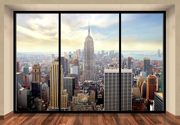 "Mural de pared NEW YORK CITY SKYLINE ""PENTHOUSE"" Papel pintado de la foto 366x254cm arte de la pared"