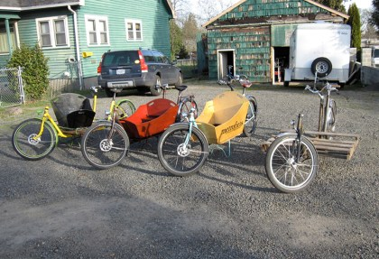 The evolution of the bike's cargo area.