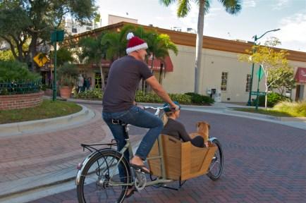 Heading through downtown Sarasota