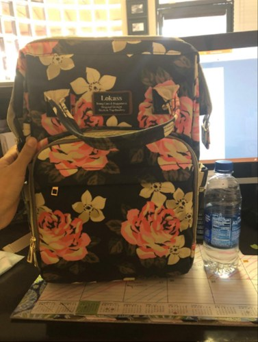 Unique Diaper Bag Backpack Floral Baby Bag Water-Resistant photo review