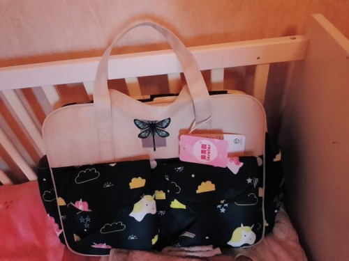 Cute Diaper Tote Bag Large Baby Bag with Changing Pad & Stroller Straps photo review