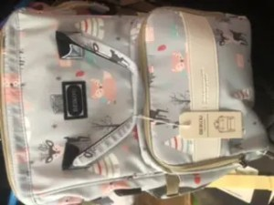 Cartoon Diaper Bag Backpack with USB Phone Charger, Insulated Bottle Keeper & Stroller Straps photo review