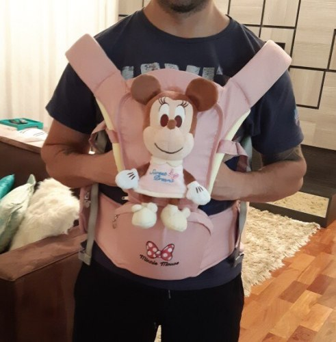 Disney Baby Carrier Hipseat with Mickey & Minnie Plush Toy photo review