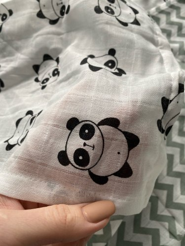 Baby Swaddle Blanket Soft Muslin Cotton Wrap – Panda photo review