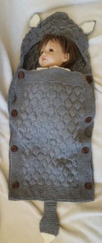 Baby Sleeping Bag Stroller Wrap Soft Warm Crochet Knitted Blanket photo review