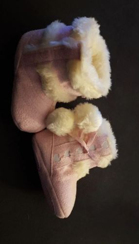 Baby Boots Fleece Knit Booties Anti-Slip Sole photo review