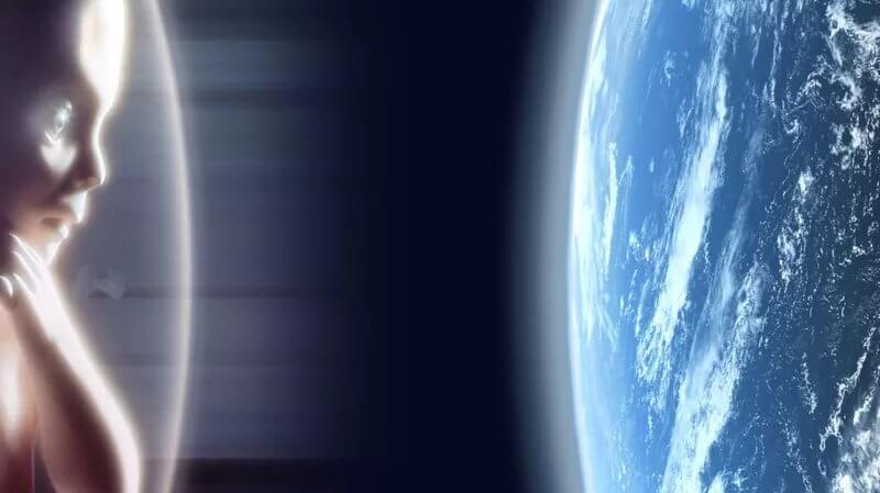Conciencias extraterrestres se reúnen para presenciar el nacimiento de una nueva era.