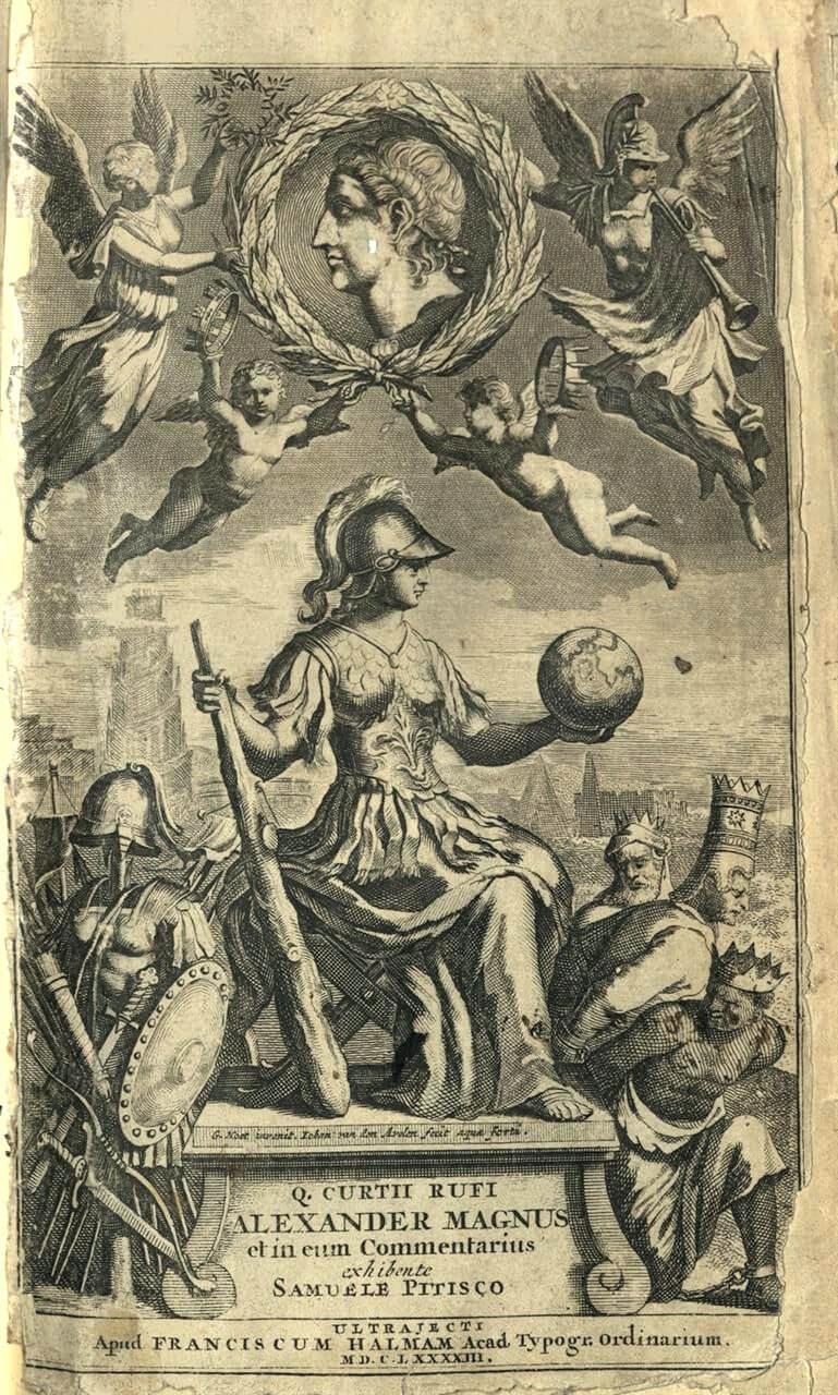Quintus Curtius Rufus. Alexander Magnus et in illum Commentarius, Οὐτρέχτη, Franciscus Halmam, 1693.