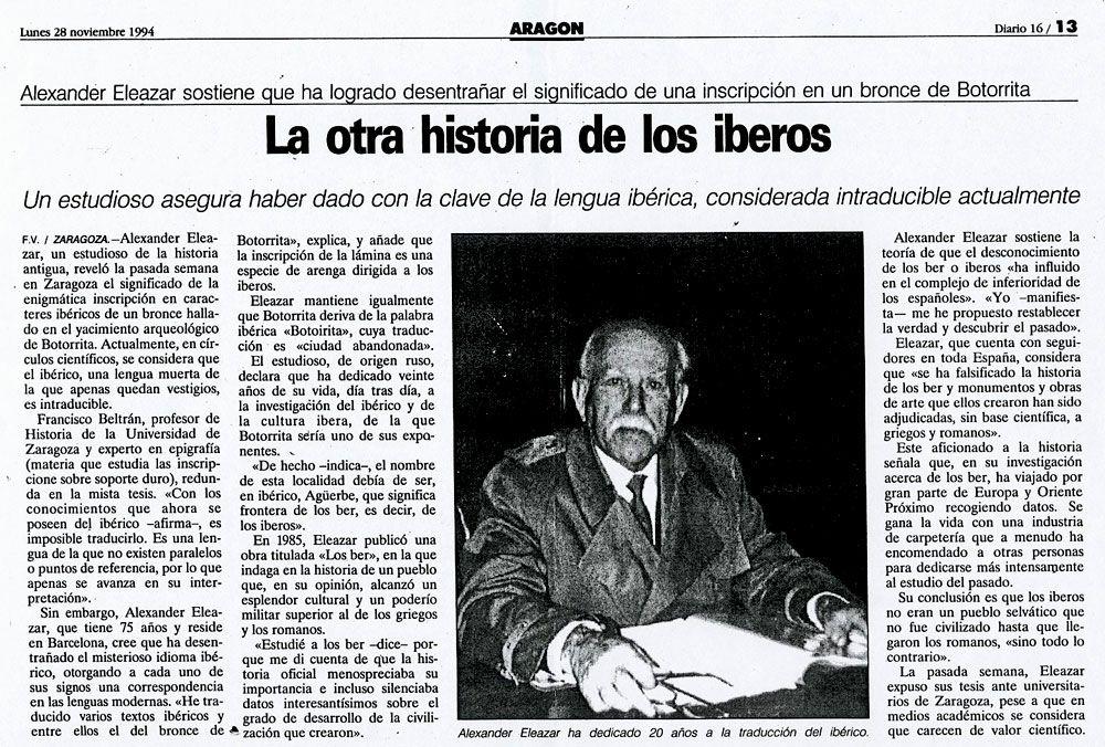 Alexandre Eleazar: la otra historia de los iberos