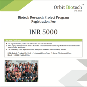 Biotech Research Project Registration