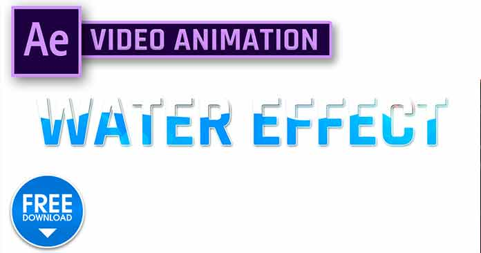 Water Effect Text Animation Using Wiggle Path in After Effects
