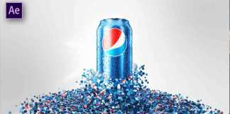 How To Create A Particle Pepsi Can After Effects Tutorial and Template