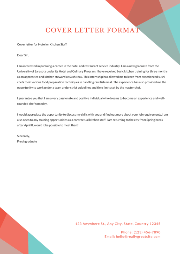 Cover Letter Format Examples Templates Download 50 Free Samples